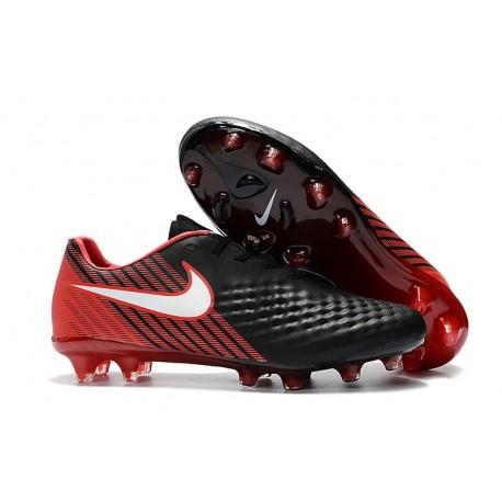 Chaussure De Football Nike Magista Opus II FG Pour Homme Noir Rouge Blanc