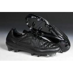 Nouvelle Chaussure de Football Nike Tiempo Legend V FG Noir