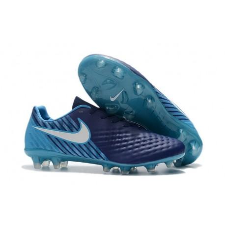 Nouvelle Crampons Nike Magista Opus II FG Bleu Blanc