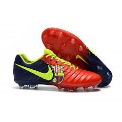 Chaussures pour Hommes Nike Tiempo Legend VII FG Rouge Bleu Volt