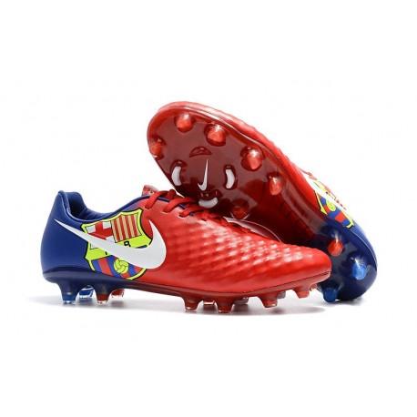 Nouvelle Crampons Nike Magista Opus II FG Barcelona Rouge Bleu