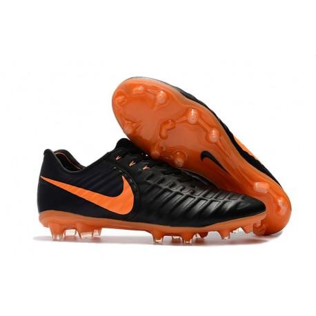 Chaussured pour Hommes Nike Tiempo Legend VII FG Noir Orange