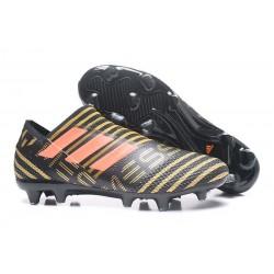 Chaussures Pour Hommes -Nouveau adidas Nemeziz 17+ 360 Agility FG Noir Rouge Tactile Gold Metallic