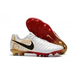 Chaussured pour Hommes Nike Tiempo Legend VII FG Blanc Or Vif