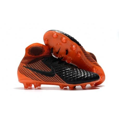 Nouvelles Chaussures de football Nike Magista Obra 2 FG Noir Blanc Rouge Université