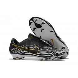 Nouvelles Nike Mercurial Vapor 11 FG Crampons de Football pour Hommes Noir Blanc Or