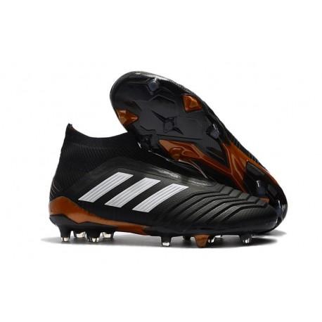 Nouvelles Crampons Foot adidas Predator 18+ FG Noir Blanc Rouge