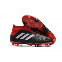 Nouvelles Crampons Foot adidas Predator 18+ FG Noir Rouge Blanc