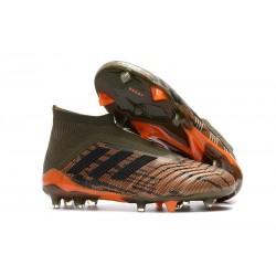 Nouvelles Crampons Foot adidas Predator 18+ FG Olive Noir Orange Vif