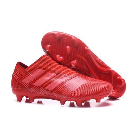 Chaussures Pour Hommes - Nouveau adidas Nemeziz 17+ 360 Agility FG Rouge Rose