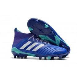 Nouvelles Crampons Football adidas Predator 18.1 FG Bleu Blanc
