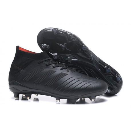 Nouvelles Crampons Football adidas Predator 18.1 FG Tout Noir