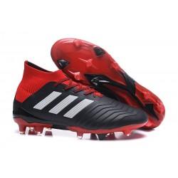 Nouvelles Crampons Football adidas Predator 18.1 FG Noir Rouge Blanc