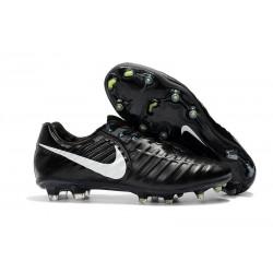 Chaussures pour Hommes Nike Tiempo Legend VII FG Noir Blanc