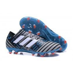Adidas Nemeziz Messi 17.1 FG - Chaussures Foot Pas Cher Gris Noir Bleu