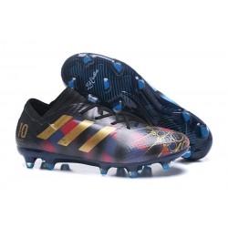 Chaussures de Football 2018 Adidas Nemeziz Messi 17.1 FG Messi Noir Or Bleu