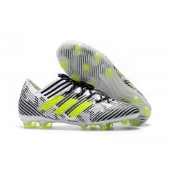 Adidas Nemeziz Messi 17.1 FG - Chaussures Foot Pas Cher Blanc Jaune Noir
