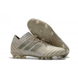 Adidas Nemeziz Messi 17.1 FG - Chaussures Foot Pas Cher Blanc Or