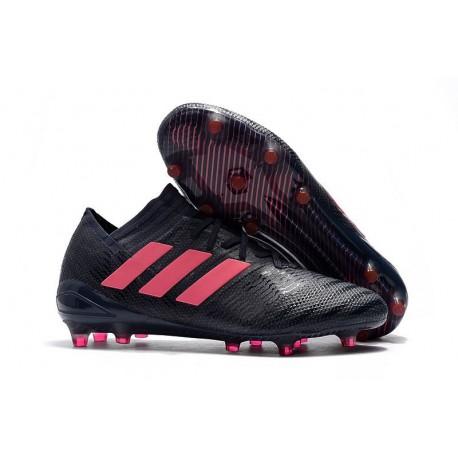 Chaussures de Football 2018 Adidas Nemeziz Messi 17.1 FG Noir Rose