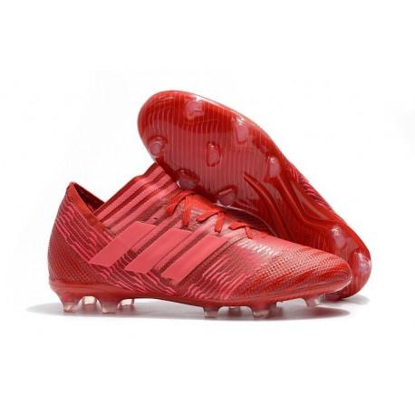Adidas Nemeziz Messi 17.1 FG - Chaussures Foot Pas Cher Rouge Rose