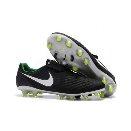 Nouvelle Crampons Nike Magista Opus II FG Noir Blanc Vert Stade