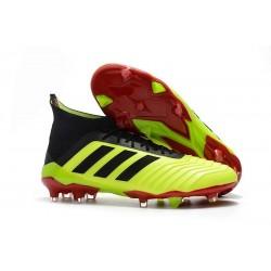 Nouvelles Crampons Football adidas Predator 18.1 FG Volt Noir Rouge