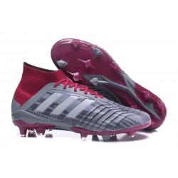 Nouvelles Crampons Football adidas Predator 18.1 FG Pogba Gris Rouge
