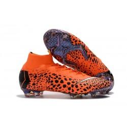 Nouveau Chaussures de football Nike Mercurial Superfly VI 360 Elite FG CR7 Noir Orange Blanc