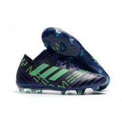 Adidas Nemeziz Messi 17.1 FG - Chaussures Foot Pas Cher Encre Vert Noir