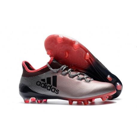 Chaussures de Football pour Hommes - Adidas X 17.1 FG Gris Rose Noir