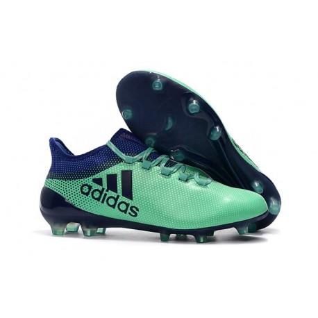Chaussures de Football pour Hommes - Adidas X 17.1 FG Vert Aero Encre Vert