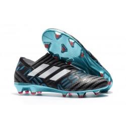 Chaussures Pour Hommes - Nouveau adidas Nemeziz 17+ 360 Agility FG Gris Blanc Noir