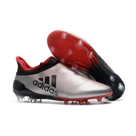 Nouveau Chaussure adidas X 17+ Purespeed FG Argenté Rouge Noir