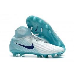Nouvelles Crampons foot Nike Magista Obra II FG Blanc Bleu