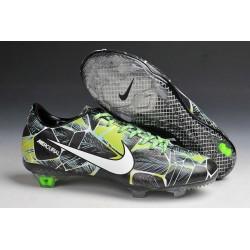 Chaussures Football Nike Mercurial Vapor IX FG Noir Blanc Vert