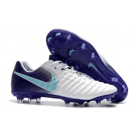 Chaussures pour Hommes Nike Tiempo Legend VII FG Blanc Violet
