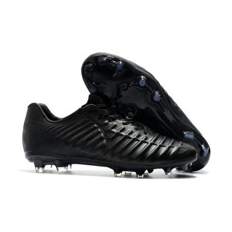 Chaussure pour Hommes Nike Tiempo Legend VII FG Tout Noir