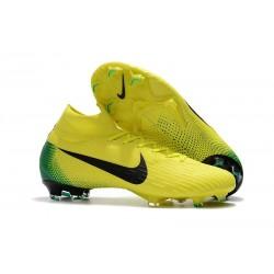 Nouveau Chaussures de football Nike Mercurial Superfly VI 360 Elite FG Jaune Noir