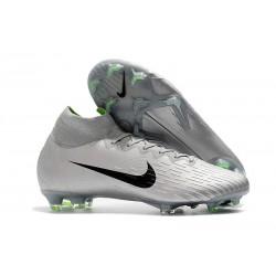 Nouveau Chaussures de football Nike Mercurial Superfly VI 360 Elite FG Gris Argent