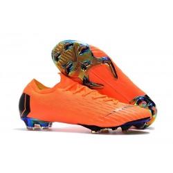 Chaussures de Football - Nike Mercurial Vapor XII Elite FG Orange Noir