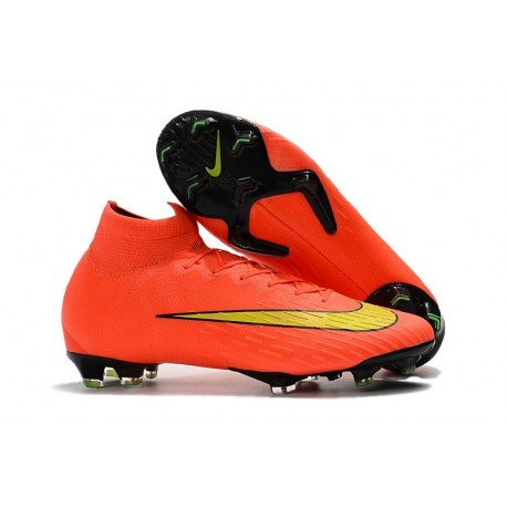 Nouveau Chaussures de football Nike Mercurial Superfly VI 360 Elite FG Orange Jaune