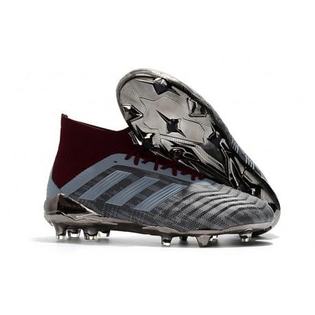 Nouvelles Crampons Football adidas Paul Pogba Predator 18.1 FG Iron Metallic