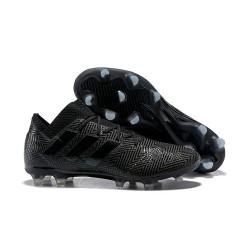 Crampons Foot pour Hommes Adidas Nemeziz Messi 18.1 FG Tout Noir