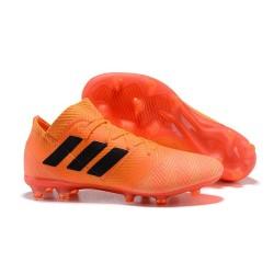Crampons Foot pour Hommes Adidas Nemeziz Messi 18.1 FG Zeste Noir Rouge