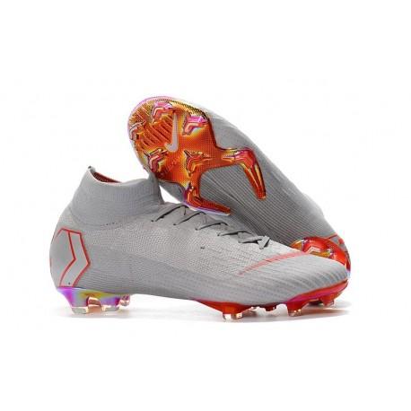 Nouveau Chaussures de football Nike Mercurial Superfly VI 360 Elite FG Gris Rouge