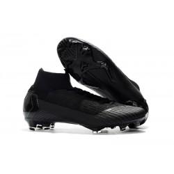 Nouveau Chaussures de football Nike Mercurial Superfly VI 360 Elite FG Tout Noir Coupe du Monde