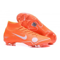 Nouveau Chaussures de football Nike Mercurial Superfly VI 360 Elite FG Orange Blanc Bleu Jaune Off-White For Nike