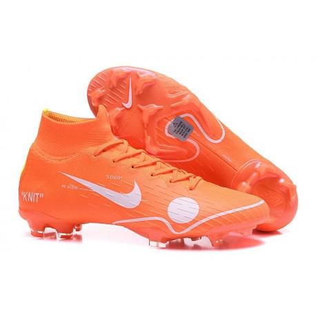 Nouveau Chaussures de football Nike Mercurial Superfly VI 360 Elite FG Orange Blanc Bleu Jaune Off-White For Nike