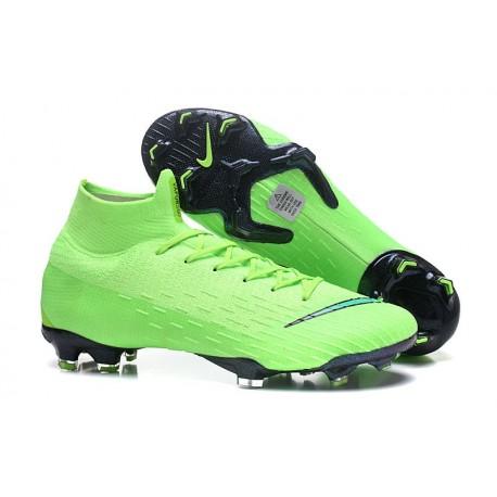 Nouveau Chaussures de football Nike Mercurial Superfly VI 360 Elite FG Vert Noir