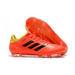 Chaussures de Football - Neuf Adidas Copa 18.1 FG Rouge Jaune
